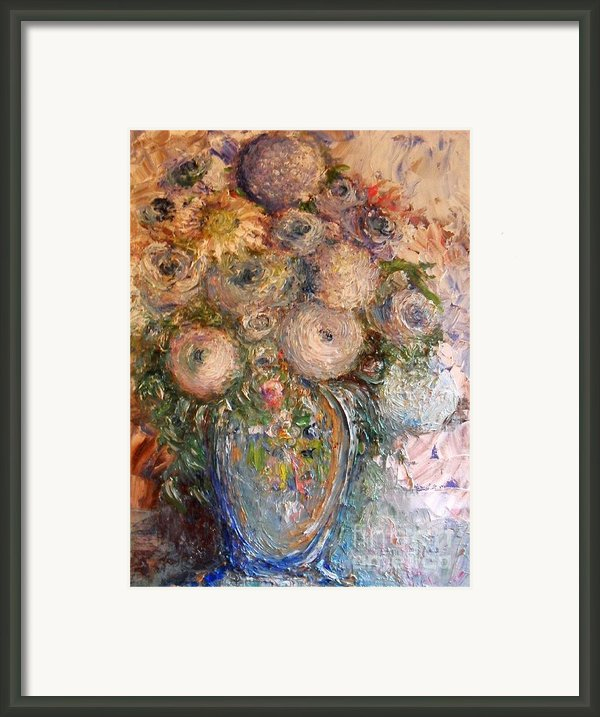 Marshmallow Flowers Framed Print By Laurie D Lundquist