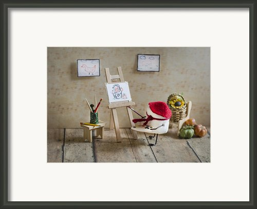 Marshmallow Masterpiece Framed Print By Heather Applegate