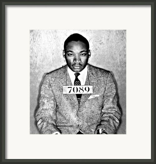 Martin Luther King Mugshot Framed Print By Some Cracker