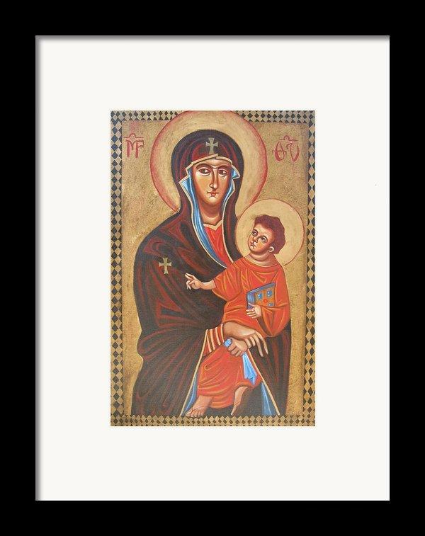 Mary Help Of The Romans Framed Print By Joseph Malham