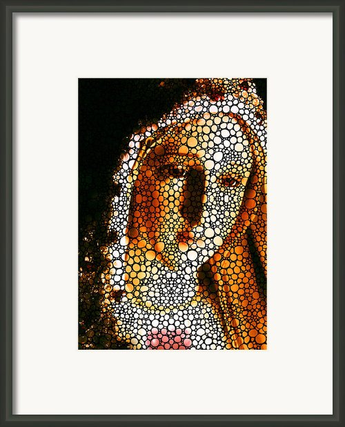 Mary - Holy Mother By Sharon Cummings Framed Print By Sharon Cummings