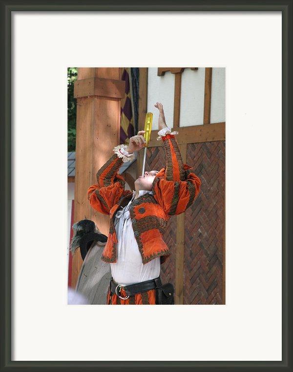 Maryland Renaissance Festival - Johnny Fox Sword Swallower - 121244 Framed Print By Dc Photographer
