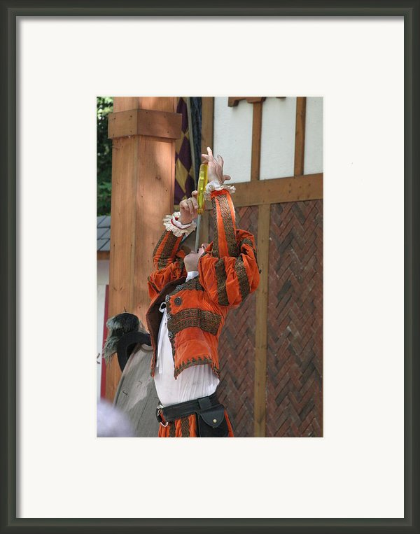 Maryland Renaissance Festival - Johnny Fox Sword Swallower - 121245 Framed Print By Dc Photographer