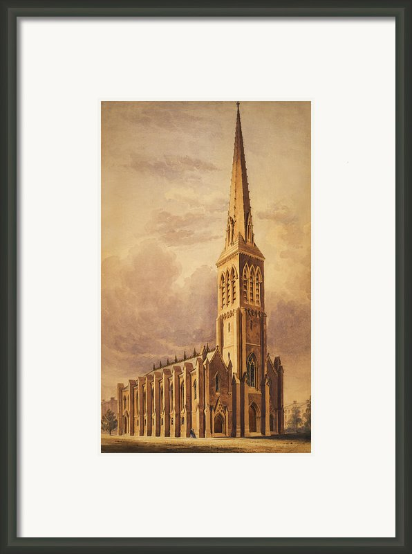 Masonry Church Circa 1850 Framed Print By Aged Pixel