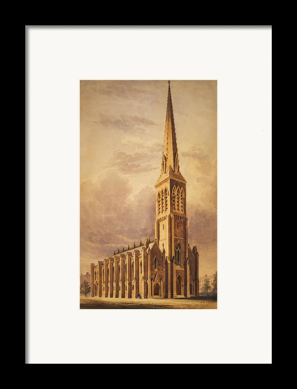 Masonry Church Circa 1850 Framed Print By Aged Pixel