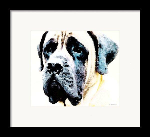 Mastif Dog Art - Misunderstood Framed Print By Sharon Cummings