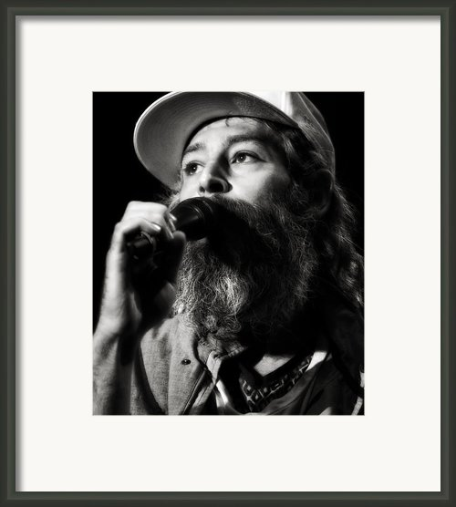 Matisyahu Live In Concert 3 Framed Print By The  Vault - Jennifer Rondinelli Reilly