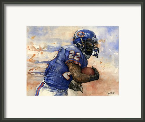 Matt Forte Framed Print By Michael  Pattison