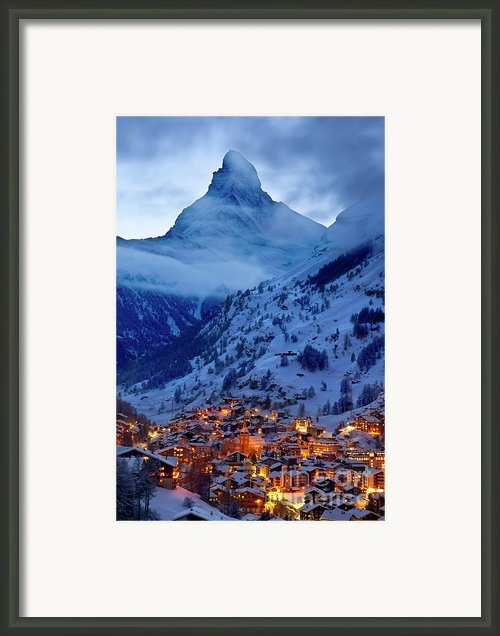 Matterhorn At Twilight Framed Print By Brian Jannsen