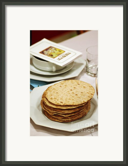 Matza And Haggada For Pesach Framed Print By Ilan Rosen