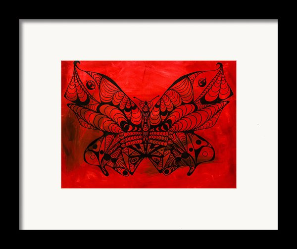 Max The Butterfly Framed Print By Kenal Louis