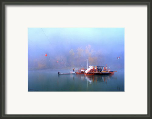 Mcclure Ferry Framed Print By Theresa Tahara