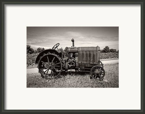 Mccormick Deering 15-30 Framed Print By Debra And Dave Vanderlaan