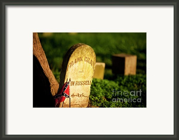 Mcgavock Confederate Cemetery Framed Print By Brian Jannsen