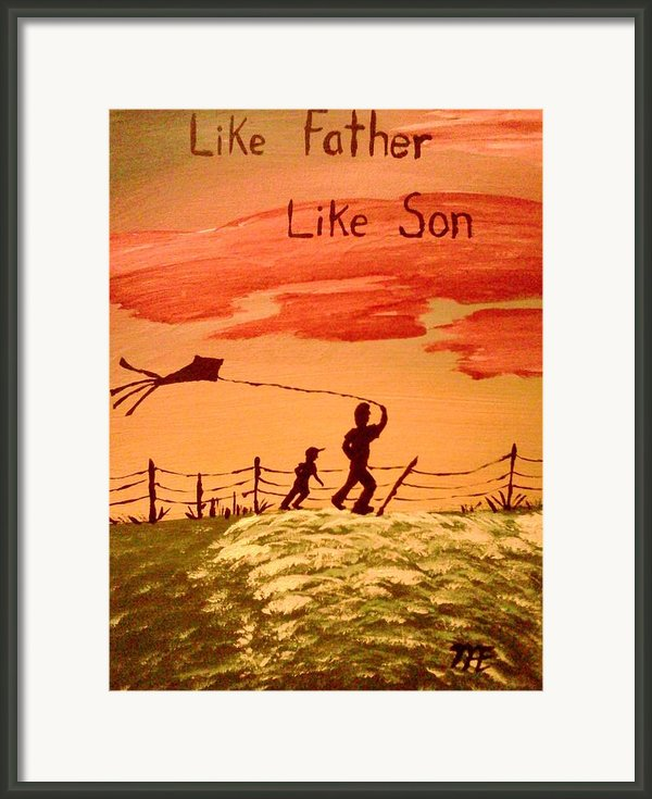 Me And My Dad Framed Print By Renee Mcknight