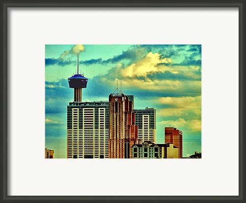 Meanwhile In Another Part Of Town Framed Print By Wendy J St Christopher