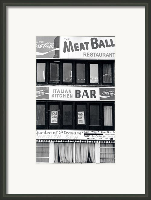 Meat Ball Restaurant Nyc Framed Print By Steven Huszar