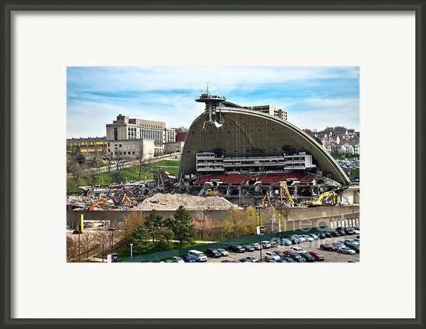 Mellon Arena Partially Deconstructed Framed Print By Amy Cicconi