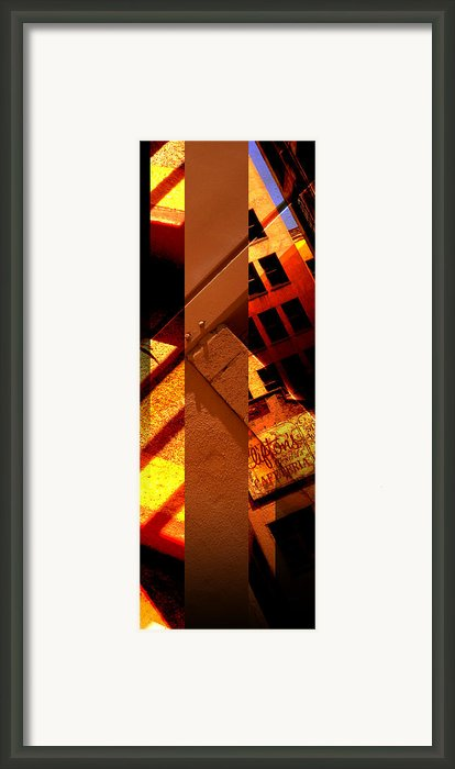 Merged - Orange City Framed Print By Jon Berry