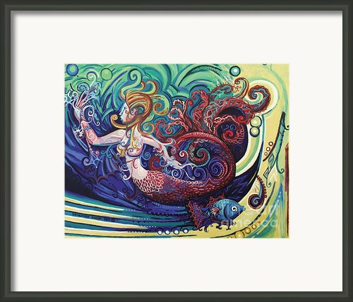 Mermaid Gargoyle Framed Print By Genevieve Esson