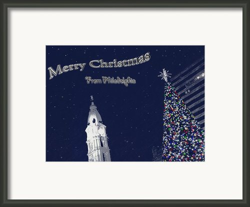 Merry Christmas From Philly Framed Print By Photographic Arts And Design Studio