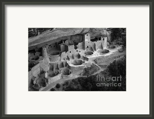 Mesa Verde Monochrome Framed Print By Bob Christopher