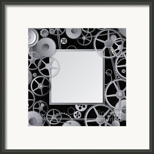 Metal Gears Design Framed Print By Richard Laschon