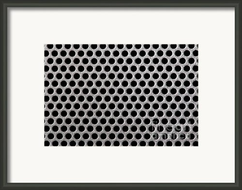 Metal Grill Dot Pattern Framed Print By Simon Bratt Photography