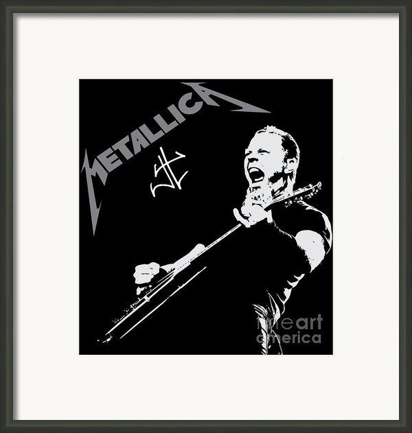 Metallica Framed Print By Caio Caldas