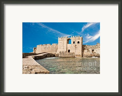 Methoni Venetian Fortress Framed Print By Gabriela Insuratelu