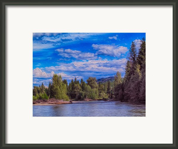 Methow River Crossing Framed Print By Omaste Witkowski
