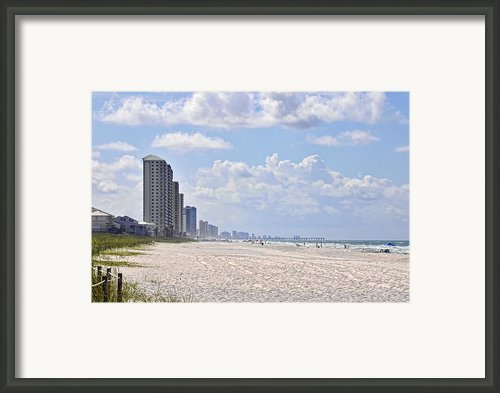 Mexico Beach Coastline Framed Print By Kenny Francis
