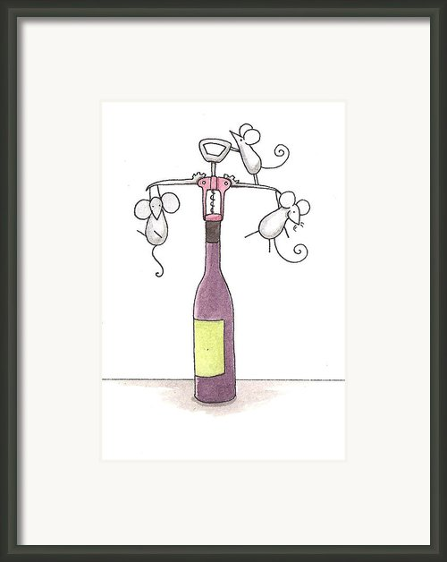 Mice With Wine Framed Print By Christy Beckwith