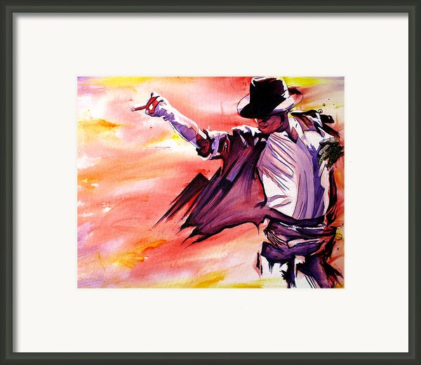 Michael Jackson-billie Jean Framed Print By Joshua Morton