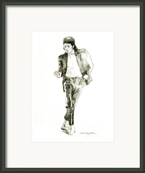Michael Jackson Billy Jean Framed Print By David Lloyd Glover