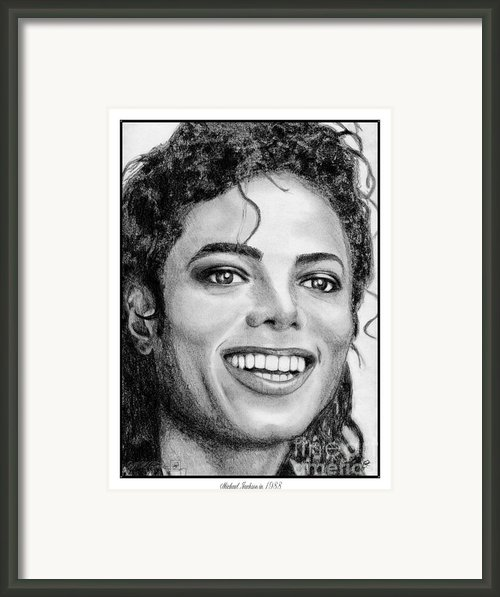 Michael Jackson In 1988 Framed Print By J Mccombie