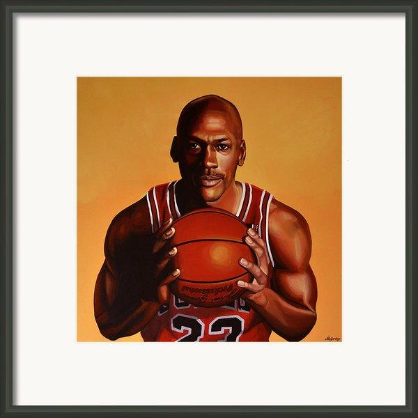 Michael Jordan 2 Framed Print By Paul Meijering