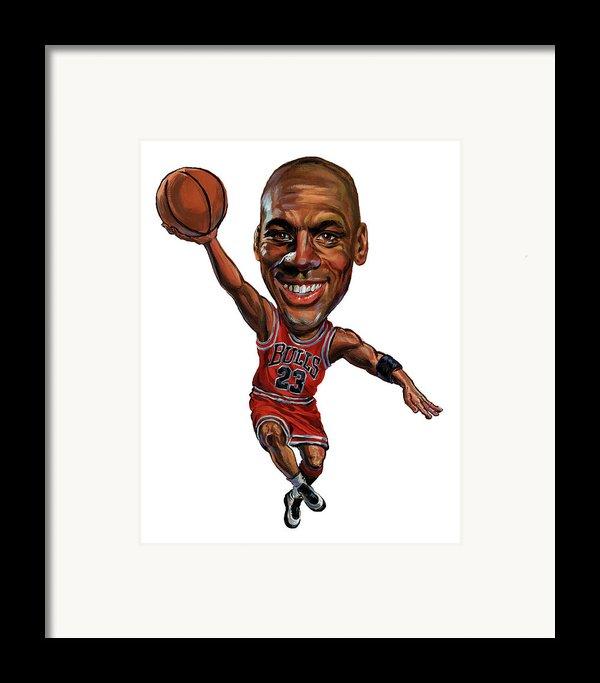 Michael Jordan Framed Print By Art