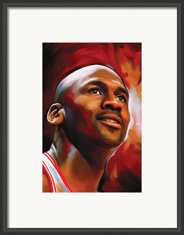 Michael Jordan Artwork 2 Framed Print By Sheraz A