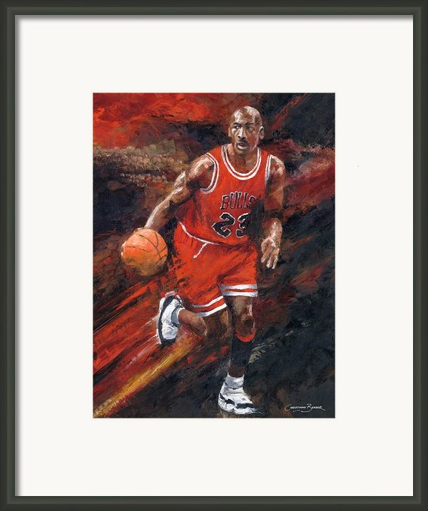 Michael Jordan Chicago Bulls Basketball Legend Framed Print By Christiaan Bekker