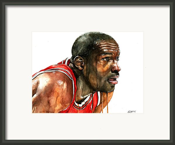 Michael Jordan Early Days Framed Print By Michael  Pattison