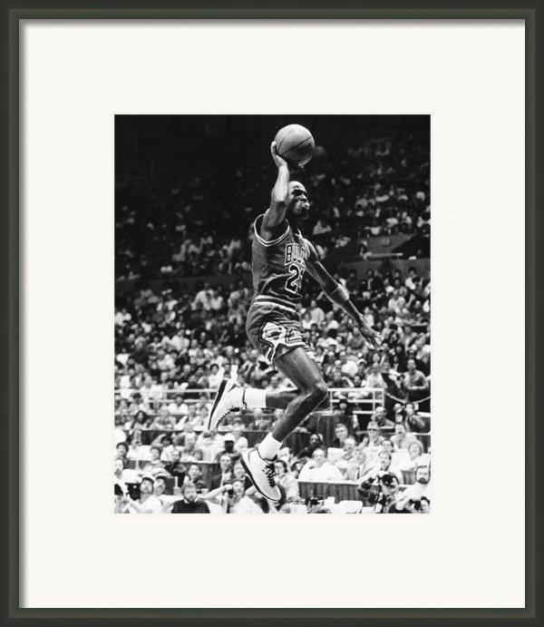 Michael Jordan Gliding Framed Print By Retro Images Archive