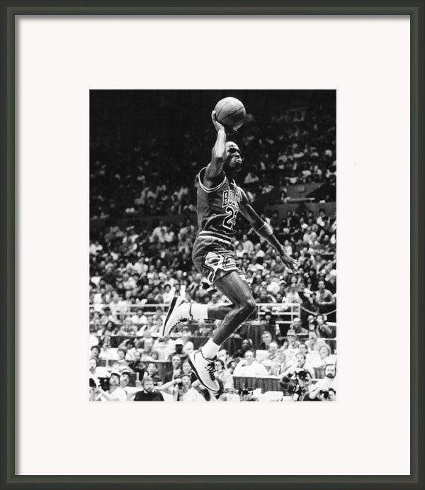 Michael Jordan Gliding Framed Print By Retro Images Archive