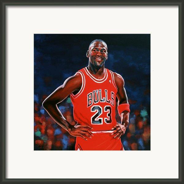 Michael Jordan Framed Print By Paul Meijering