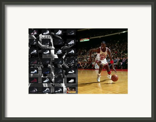 Michael Jordan Shoes Framed Print By Joe Hamilton