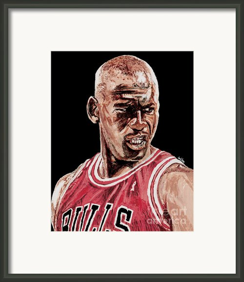 Michael Jordan The Intimidator Framed Print By Israel Torres