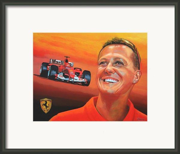 Michael Schumacher 2 Framed Print By Paul  Meijering