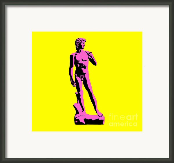 Michelangelos David - Punk Style Framed Print By Pixel Chimp