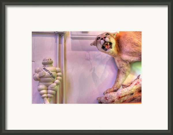 Michelin Man Framed Print By Jane Linders