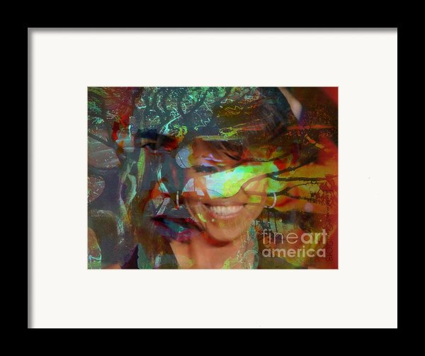 Michelle Barack And Baobab Framed Print By Fania Simon